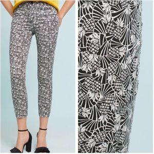 NWT Anthropologie Bowery Printed Black-White Pants